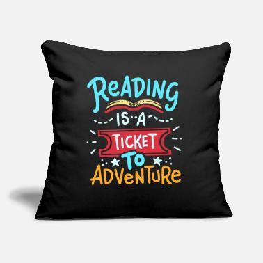 "Reading Reading Read - Throw Pillow Cover 18"" x 18"""