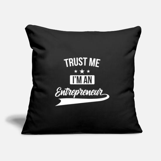 "Net Pillow Cases - Trust me I m an entrepreneur business gift startup - Throw Pillow Cover 18"" x 18"" black"