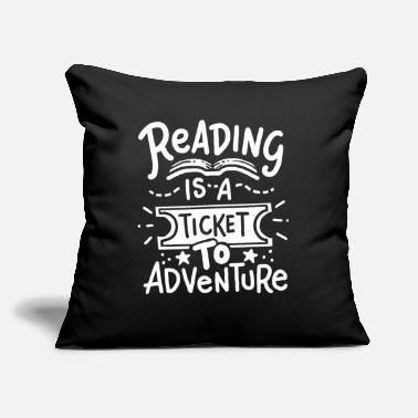 "Reading Reading Reading Reading - Throw Pillow Cover 18"" x 18"""