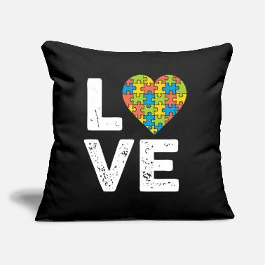 "Puzzle Love of the Puzzle - Throw Pillow Cover 18"" x 18"""