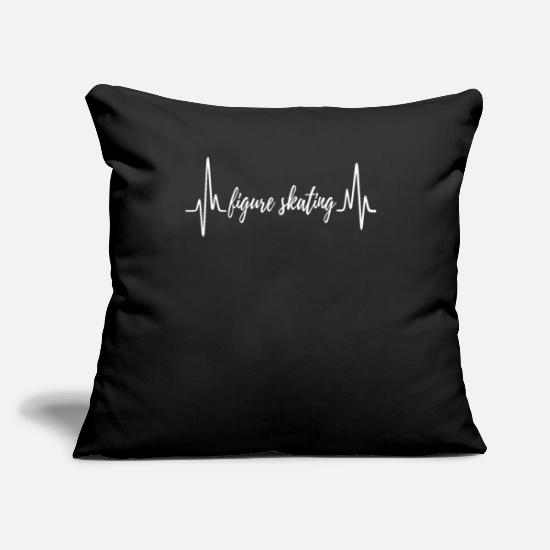 "Evolution Pillow Cases - Figure Skating Tee Shirt For Your Sister - Throw Pillow Cover 18"" x 18"" black"