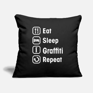 "Graffiti graffiti - Throw Pillow Cover 18"" x 18"""