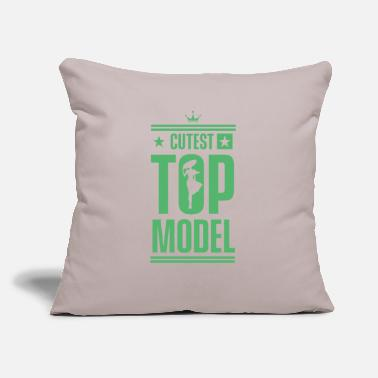 "Model Modeling Top Model Model Fashion Model Catwalk - Throw Pillow Cover 18"" x 18"""