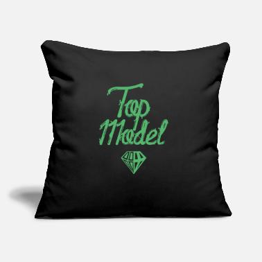 "Model Modeling Top Model Model Catwalk Fashion Model - Throw Pillow Cover 18"" x 18"""