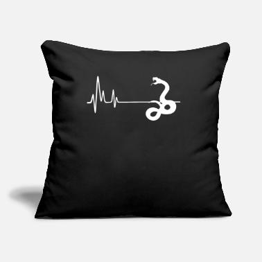 "Snake 0100320061 animal viperMy Heart Beats For Vipers H - Throw Pillow Cover 18"" x 18"""