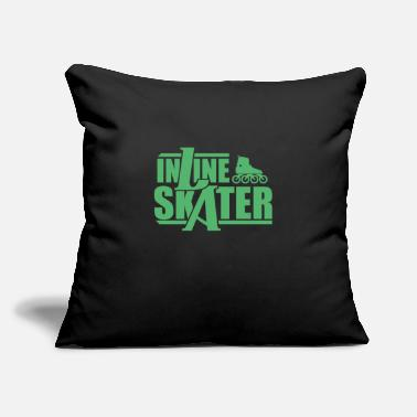 "Inliner Inliner - Throw Pillow Cover 18"" x 18"""