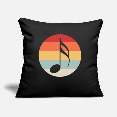 "Music Music Note - Throw Pillow Cover 18"" x 18"""