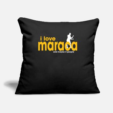 "Hobby I Love Maraca - Throw Pillow Cover 18"" x 18"""