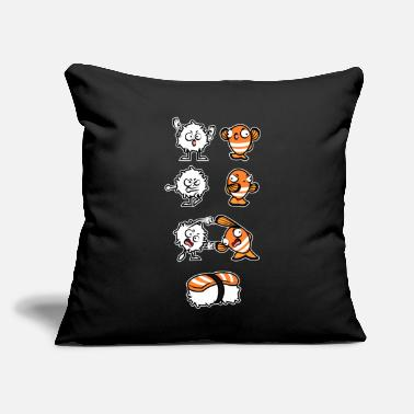 "Fusion Sushi Fusion - Throw Pillow Cover 18"" x 18"""