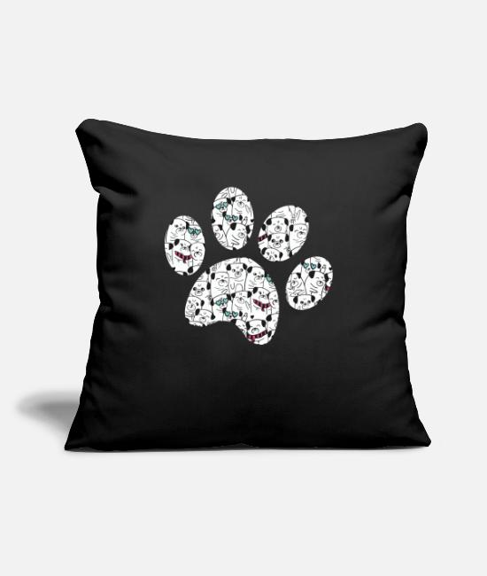 "Dachshund Pillow Cases - For the love of Paws. Giftidea - Throw Pillow Cover 18"" x 18"" black"