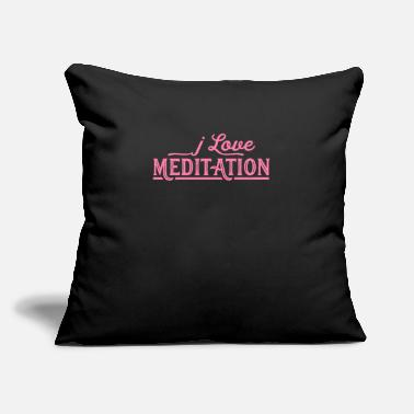 "Meditation Meditate Meditate Meditate Meditate - Throw Pillow Cover 18"" x 18"""