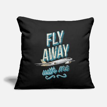 "Pilot Pilot - Throw Pillow Cover 18"" x 18"""