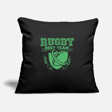 "Rugby Rugby Rugby Rugby Rugby - Throw Pillow Cover 18"" x 18"""