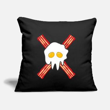 "Egg Bacon and eggs gift bacon and eggs - Throw Pillow Cover 18"" x 18"""