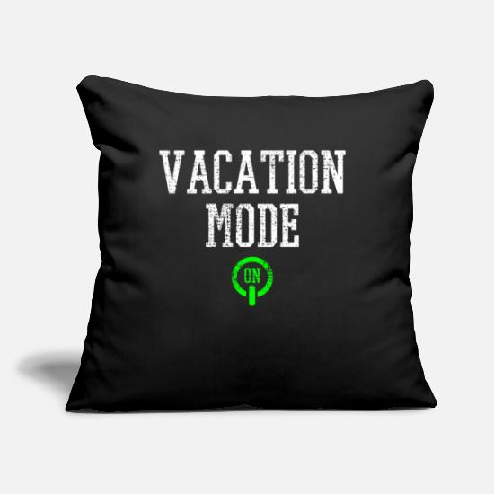 "Mode Pillow Cases - Vacation - Throw Pillow Cover 18"" x 18"" black"