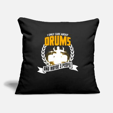 "Tambores Funny Drums Tee Christmas Present - Throw Pillow Cover 18"" x 18"""