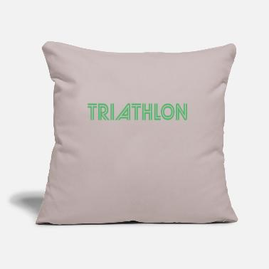 "Triathlon Triathlon Triathlon Triathlon Triathlon - Throw Pillow Cover 18"" x 18"""