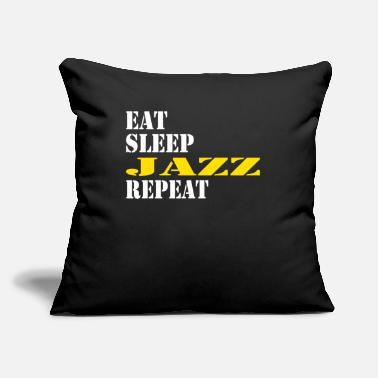 "Boogiewoogie eat sleep jazz repeat - Throw Pillow Cover 18"" x 18"""