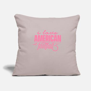 "American Football American Football American Football - Throw Pillow Cover 18"" x 18"""
