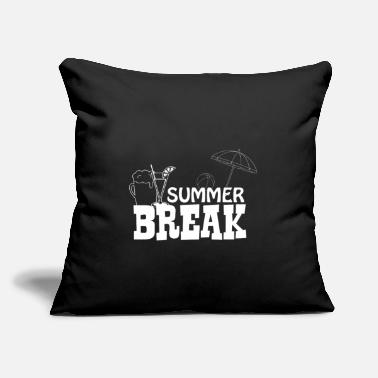 "Crab Summer Break - Cocktail - Throw Pillow Cover 18"" x 18"""