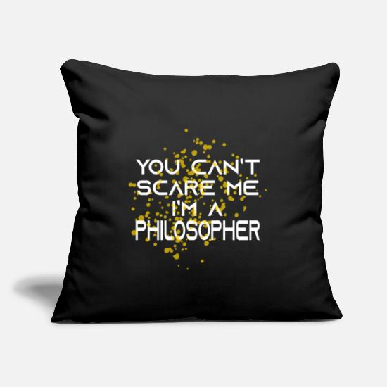 "Thoughts Pillow Cases - Philosopher Fear - Throw Pillow Cover 18"" x 18"" black"