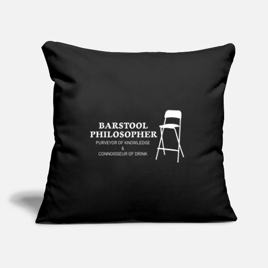 "Philosopher Pillow Cases - Philosopher - Throw Pillow Cover 18"" x 18"" black"