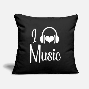 "I Love Music I Love Music - Throw Pillow Cover 18"" x 18"""