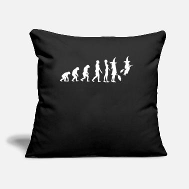 "Witch Evolution Halloween Funny Costume Halloween - Throw Pillow Cover 18"" x 18"""