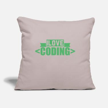 "Coder Coder - Throw Pillow Cover 18"" x 18"""
