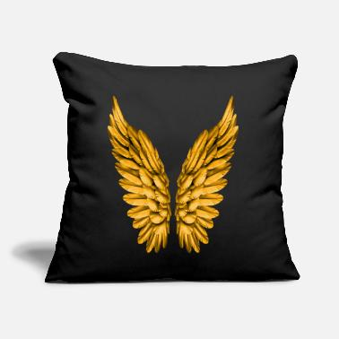 "Angelwings Angel Wings Angelwings Gold Golden Guardian Angel - Throw Pillow Cover 18"" x 18"""
