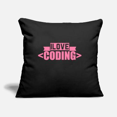"Code Coding Coding Coding Coding - Throw Pillow Cover 18"" x 18"""