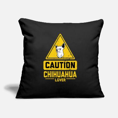 "Civava CAUTION Chihuahua Lover - Throw Pillow Cover 18"" x 18"""
