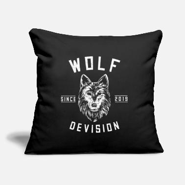 "Growling Wolf Wolf forest hunter mountain yell gray fang king - Throw Pillow Cover 18"" x 18"""