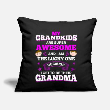 "I am The Lucky One I Get to be Their Grandma - Throw Pillow Cover 18"" x 18"""