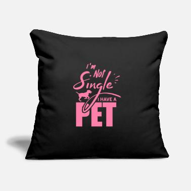 "Petting Pets Pets Pets Pets - Throw Pillow Cover 18"" x 18"""