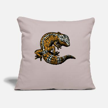 "Leopard Leopard Gecko Lizard Cute Pet - Throw Pillow Cover 18"" x 18"""