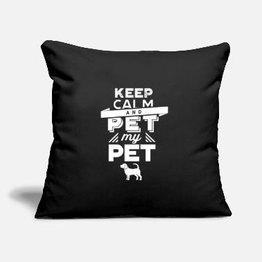 "Petting Pet Pets - Throw Pillow Cover 18"" x 18"""