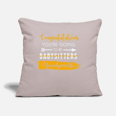 "Congratulations Congratulations Grandparents - Throw Pillow Cover 18"" x 18"""