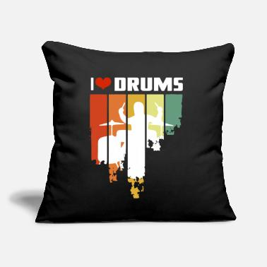 "Trommer Hobbies Tabour I Love Drums Vintage Edition - Throw Pillow Cover 18"" x 18"""