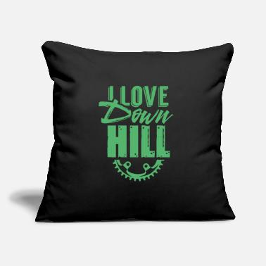 "Downhill Downhill Downhill Downhill Downhill - Throw Pillow Cover 18"" x 18"""