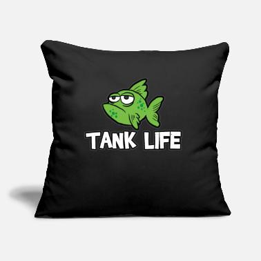 "Aquarium Aquarium Aquarium Aquarium - Throw Pillow Cover 18"" x 18"""