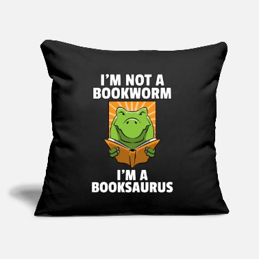 "Funny Mothers Day Dino Read Book Reading Rex Lovers Funny Cute Gift - Throw Pillow Cover 18"" x 18"""