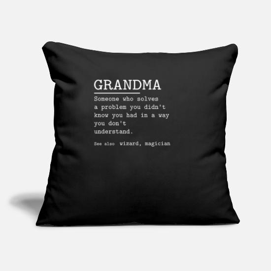 "Grandma Pillow Cases - GRANDMA - Throw Pillow Cover 18"" x 18"" black"