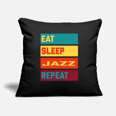 "Boogiewoogie Eat Sleep Jazz Repeat Hipster Edition - Throw Pillow Cover 18"" x 18"""