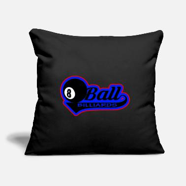 "Ball Billiard ball ball - Throw Pillow Cover 18"" x 18"""