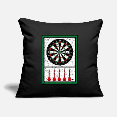 "Dartboard Dartboard - Darts - Throw Pillow Cover 18"" x 18"""
