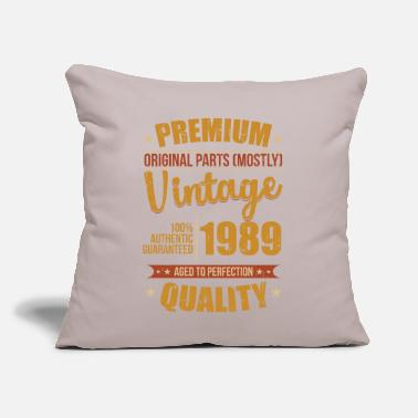 "Year Of Birth 1989 Year of birth - Throw Pillow Cover 18"" x 18"""