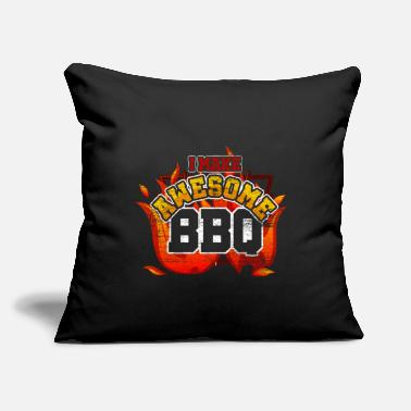 "Gourmet Barbecue Gourmet - Throw Pillow Cover 18"" x 18"""