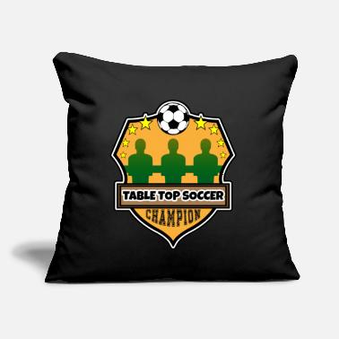 "Table Soccer Table football - soccer table soccer - Throw Pillow Cover 18"" x 18"""