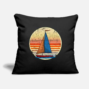 "Sailing Funny Sailing - Throw Pillow Cover 18"" x 18"""